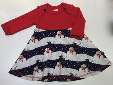 Body-klänning Snögubbar, 62