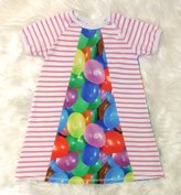 Klänning Vattenballonger, stl 110
