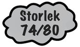 Storlek 74/80