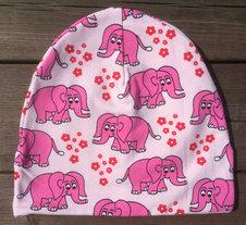 Mössa Elefanter rosa, 50/52