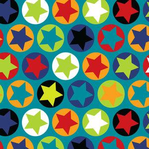 Turkos jersey med stjärnor i ringar