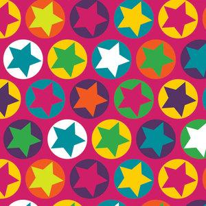 Cerise jersey med stjärnor i ringar