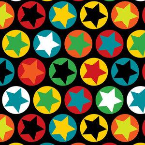 Svart jersey med stjärnor i ringar
