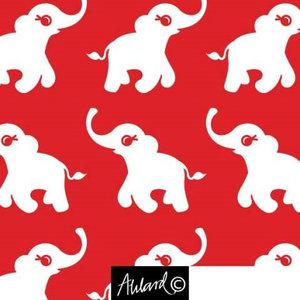 Glad Elefant röd/vit - EKOLOGISKT