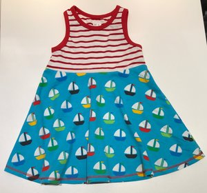 Linne-klänning Segelbåtar, 98