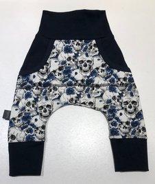 Baggypants Döskallar & Blommor blå, 50/56