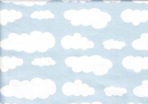 Ljusblå jersey med vita moln