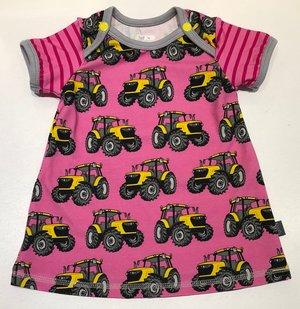Klänning Traktorer rosa, 74
