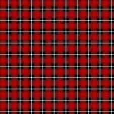 Skotskrutig jersey, röd - Ekologisk