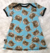 Klänning Katter, stl 86