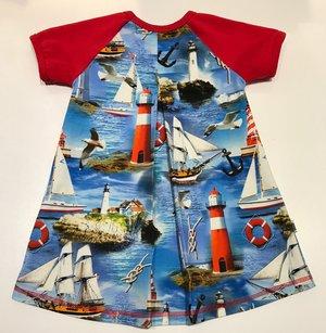 Klänning Hav, Båtar & Måsar, 98