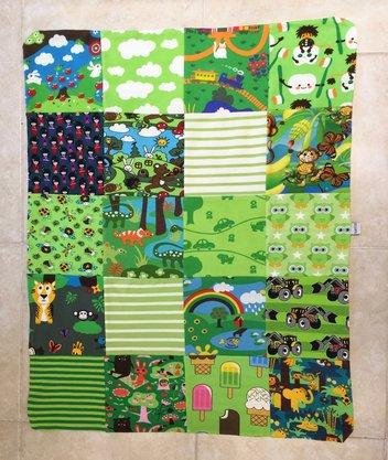 Baby-filt Grön, ca 59 x 73 cm