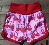 Shorts Traktorer rosa, stl 98