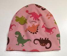 Mössa Dinosaurier rosa, 50/52