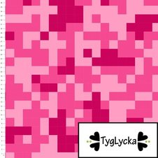 Camo pixels pink - Ekologiskt