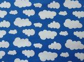 Cobolt jersey med vita moln