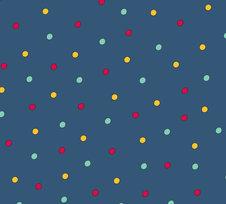 Circus Dots, Dark blue  -  Ekologiskt