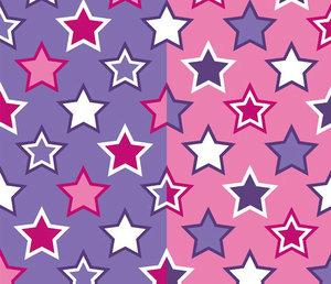Tuggummistjärnor rosa