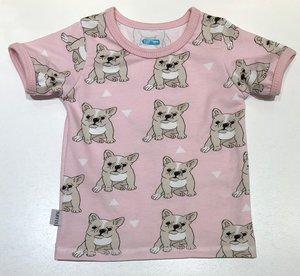 T-shirt Bulldog rosa, 74