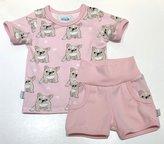 T-shirt + Shorts Bulldog rosa, 74