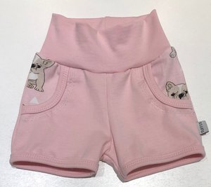 T-shirt + Shorts Bulldog rosa, 74