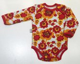 Body Retro blommor röd, 68