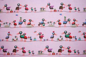 Storkar ljusrosa