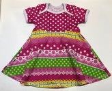 Body-klänning Ruffles pink, 74