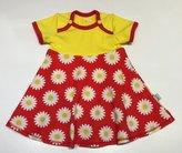 Body-klänning Prästkragar röd, 62