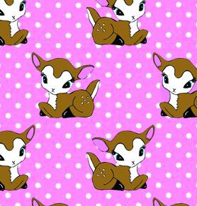 Bambi med vita prickar