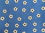 Blått bomullstyg med fotbollar